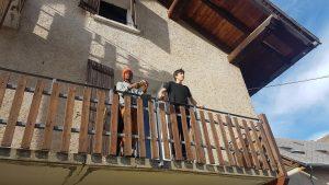 Le balcon du chalet