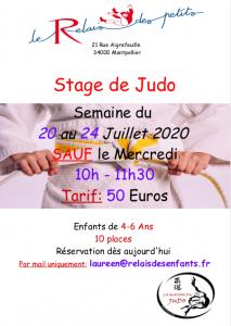 stage de judo au Relais des Petits
