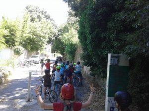 le groupe à vélo