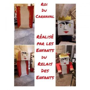 Les étapes de construction du roi du carnaval à Montpellier