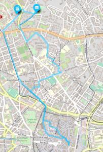 itinéraire vers le cinéma à vélo